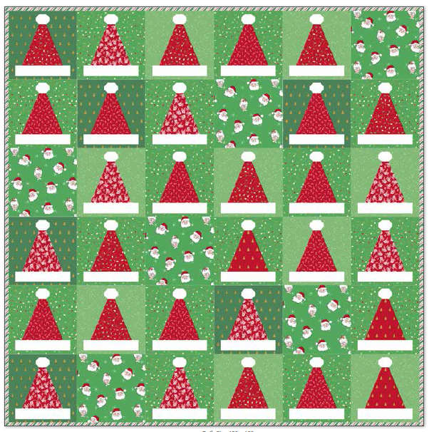 "Kit:  Santa's Hat 60"" x 60"" Inc. Pattern"