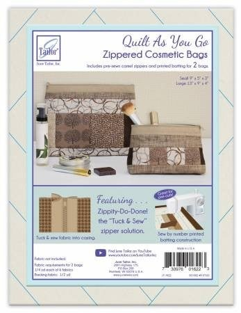 Quilt As You Go Cosmetic Bag