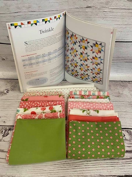 """Kit:  Twinkle Quilt 60"""" x 80""""  (Need Book Fat Quarter Workshop NOT INCL)"""