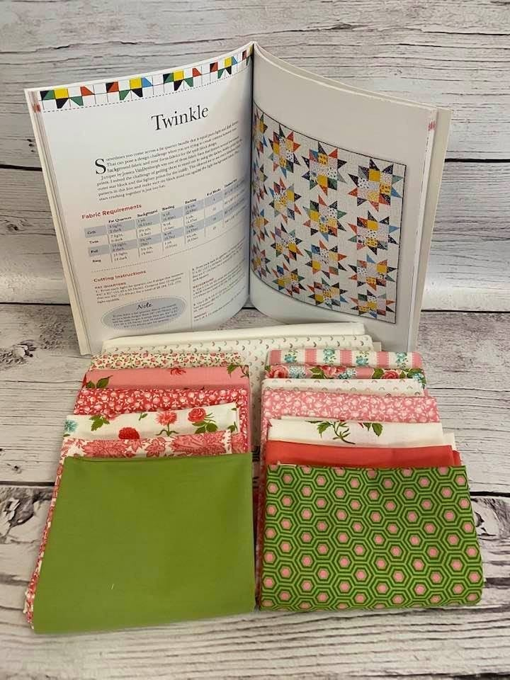 "Kit:  Twinkle Quilt 60"" x 80""  (Need Book Fat Quarter Workshop NOT INCL)"
