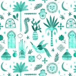 "C&S Moroccan Nights Marbella Teal (147"" x 42"")"