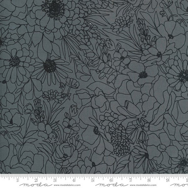 Backing for Love Sweet Love 5 Yards Illustrations Grey