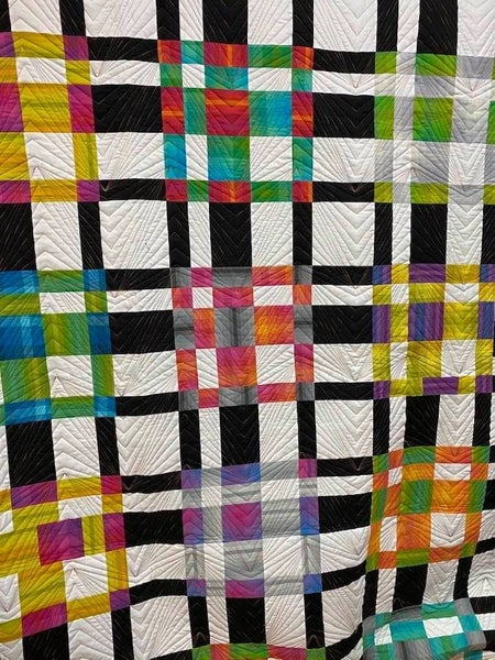 "Urban Brights Plaid Quilt Kit (86"" x 106"") Inc. Ptrn"