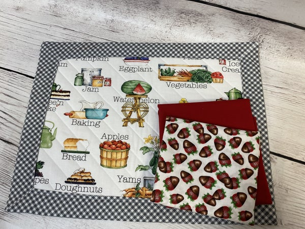 Kit: Easy Mitered Placemat Chocolate Strawberries