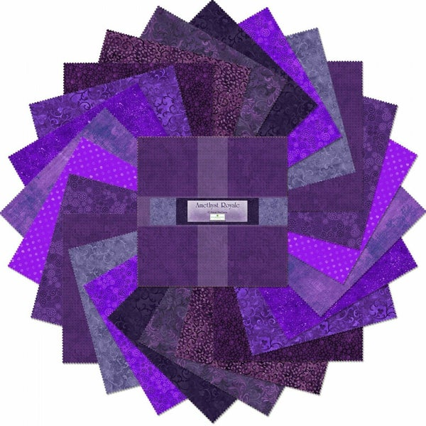 "Amethyst Royale 10 Karat (42) 10"" squares"