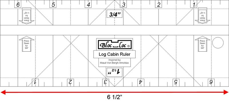 "Log Cabin Ruler 3/4"" & 1 1/2"""