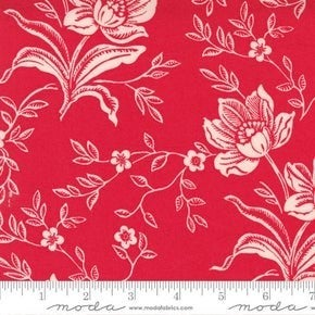 Moda  Woodcut Floral Red (72 x 108)