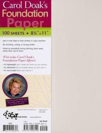 "Carol Doak's Foundation Paper 8 1/2"" x 11"""