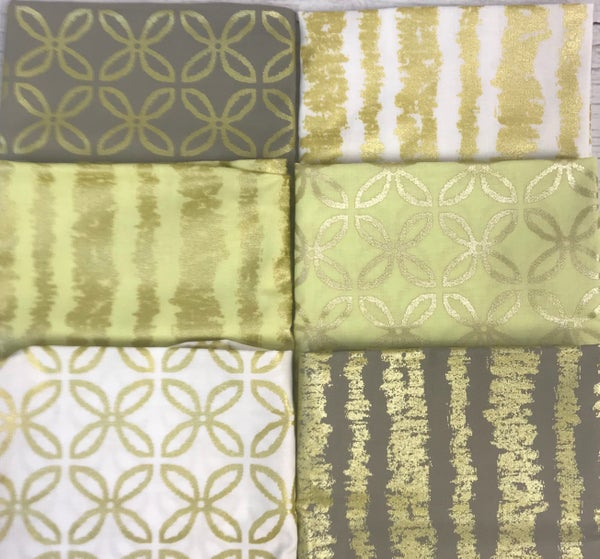 Fat Quarter Bundle (6) Golden Beauties