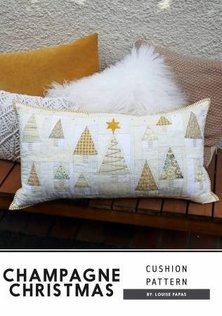 Pattern: Champagne Christmas Pillow by Jen Kingwell