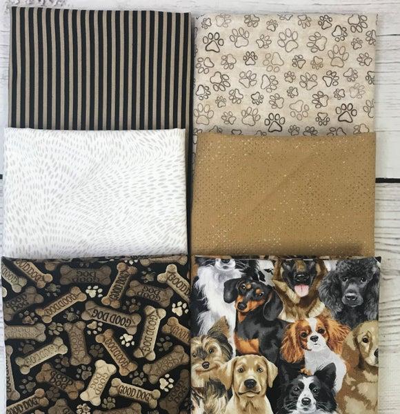 Fat Quarter Bundle (6) Pups