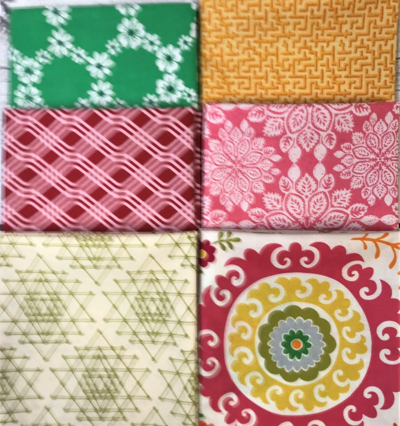 Fat Quarter Bundle (6) Bright and Sunny