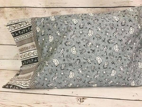 Pillowcase Kit - Chalk Board Animals