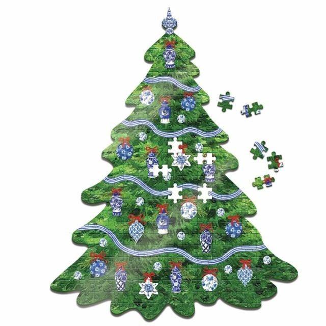 """Puzzle:  Christmas Tree Shape 500 piece puzzle, 15"""" x 27"""""""