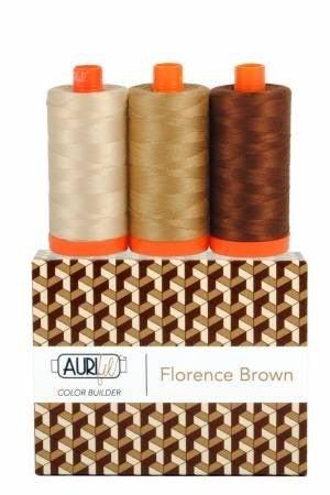 Aurifil Color Builder Florence Brown