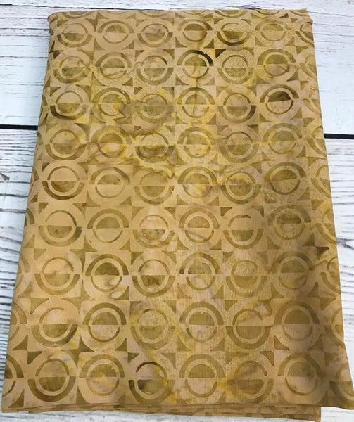 BYOK - Backing Batik Circles Gold 3 3/8 yards