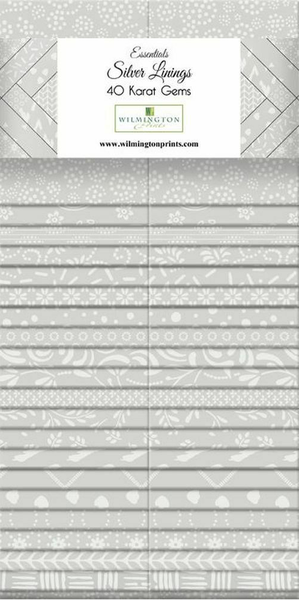 "Essential Gems (40) 2 1/2"" Strips Silver Linings"