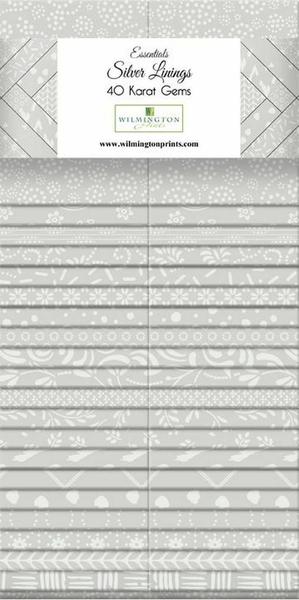 "Essential Gems (40) 2 1/2"" Strips Silver Linings"