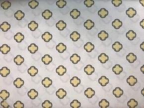 "Andover Flourish - Yellow Medallion (288"" x 42"")"