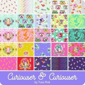 Pre-Order (Del. May 2021) Tula Curiouser & Curiouser Fat Qtr. Bundle (25)