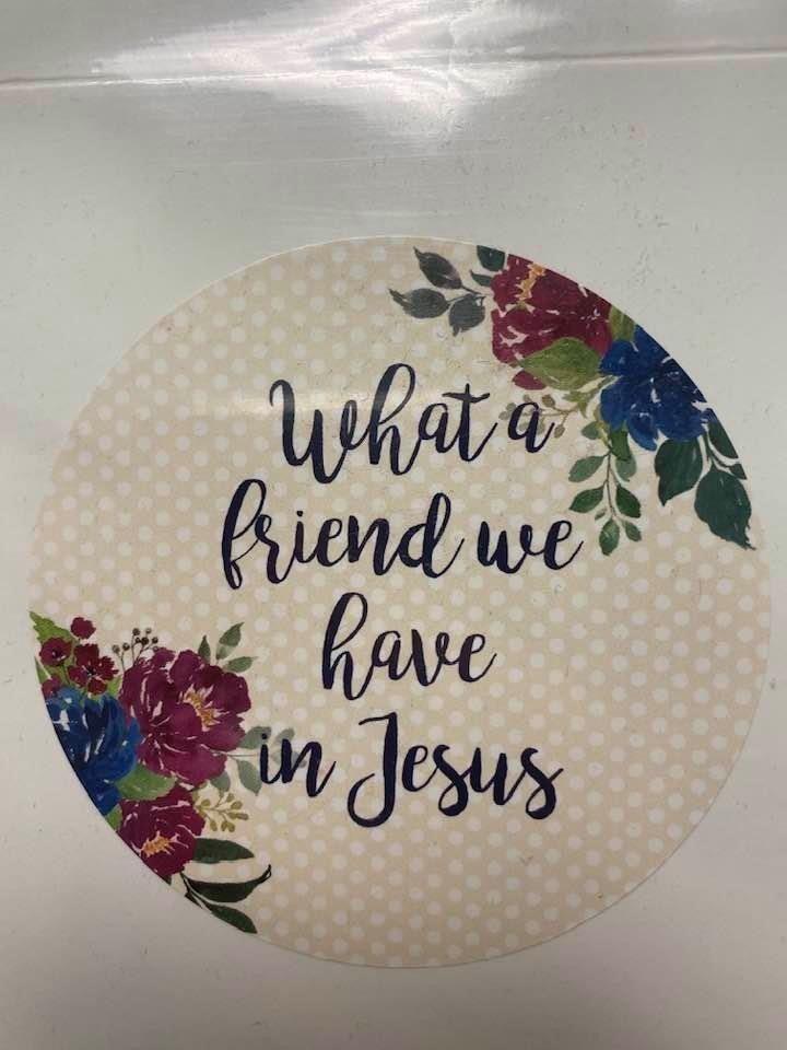 Fat Quarter Card Friend in Jesus