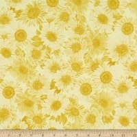 "Wideback 108"" Sunflower Whispers One Yard Yellow"