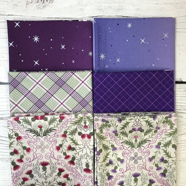 FQ Bundle (6) Purple Floral and Stars