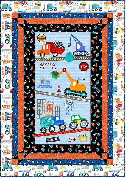 Digger and Dumpsters Kit Incl. Pattern