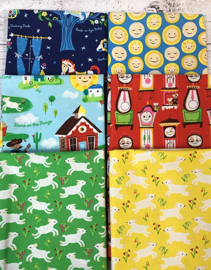 Fat Quarter Bundle (6) Nursery Rhymes