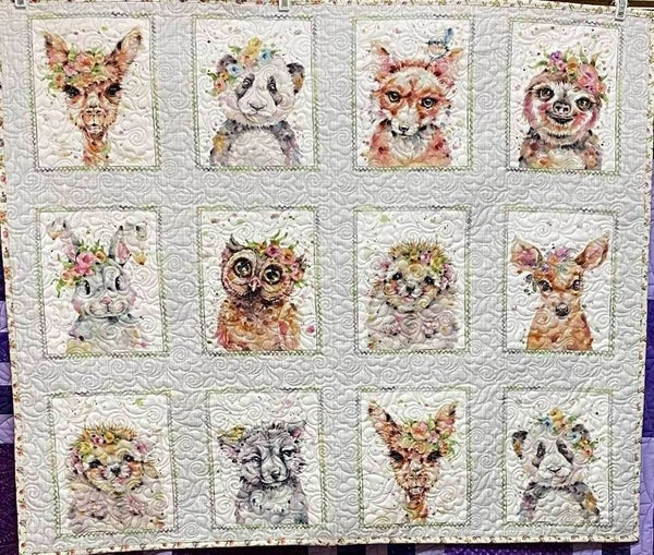 """Kit:  Little Darlings Panel w/Backing and binding 35"""" x 42"""""""