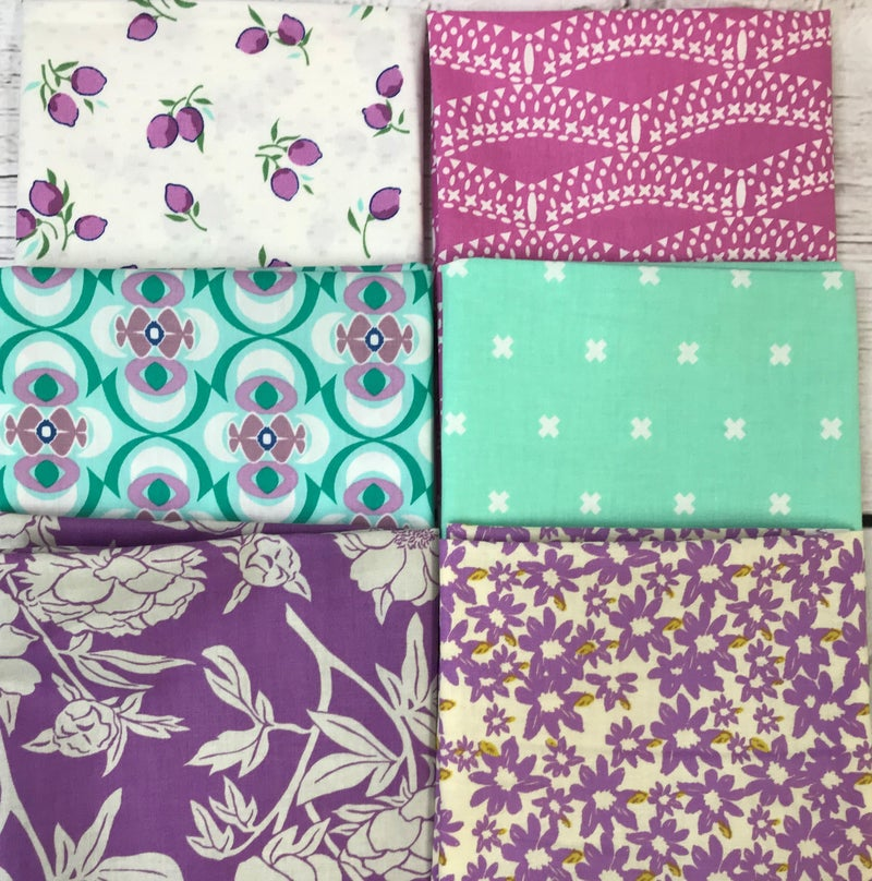 Fat Quarter Bundle (6) Lavender and Mint