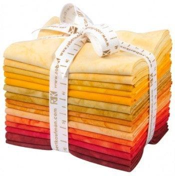 FQ Bundle Prisma Dyes Lava Flow Solid Batiks (15)
