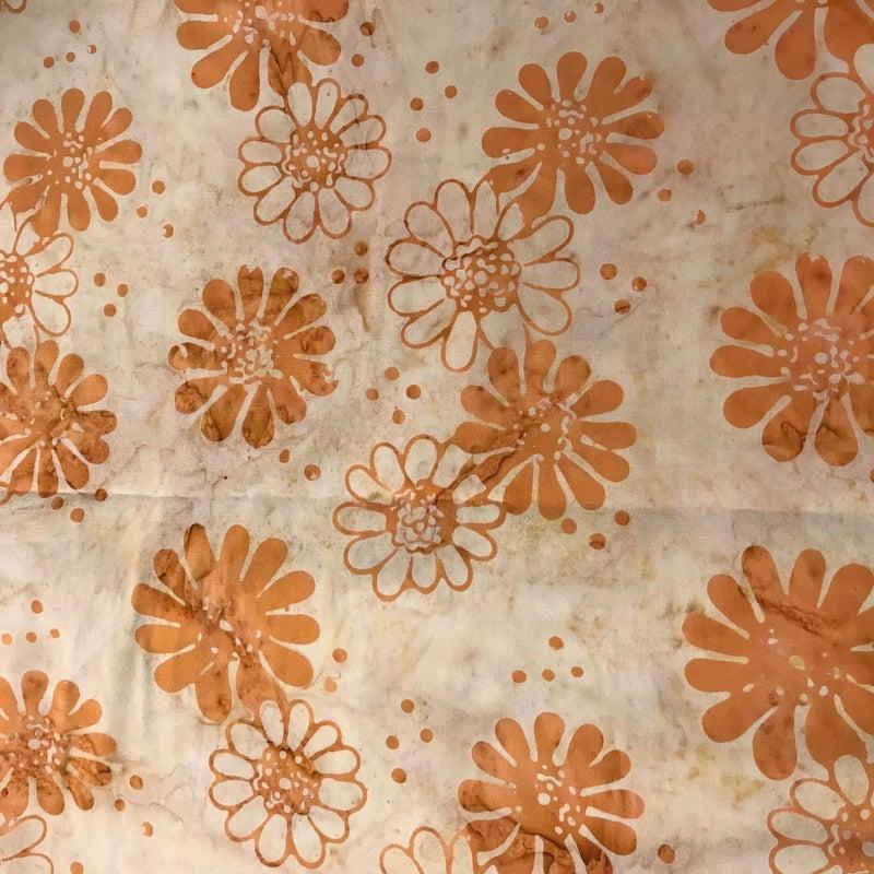 """Anthology Batik Orange Daisy (66"""" x 42"""")"""