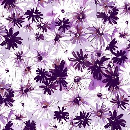 RJR Ink Rose  Daisy Bundle Light Orchid - 1 Yard