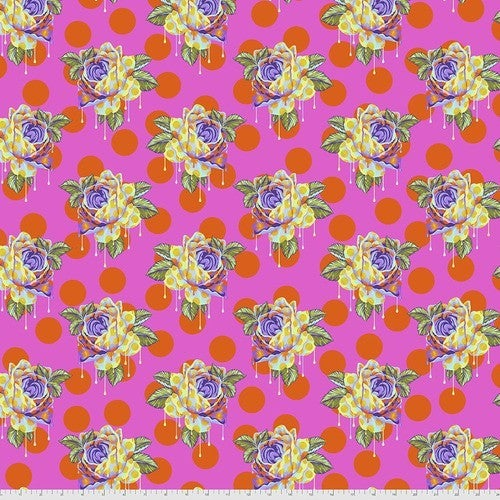 """Tula Curiouser 42"""" One Yard Painted Roses Daydream"""