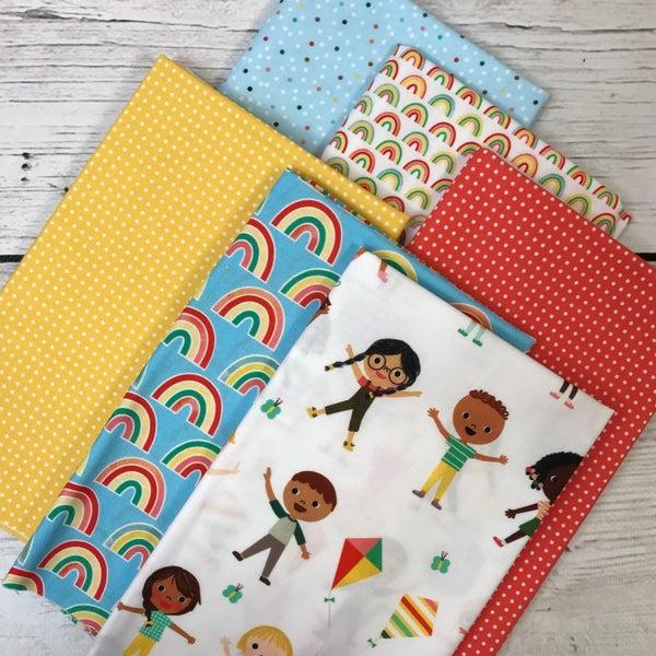 Six Half Yard Cuts - Kids and Rainbows