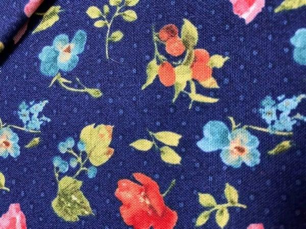 Blue Flower One Yard Cut