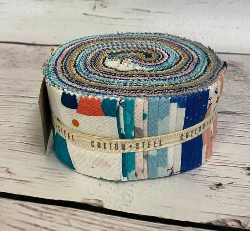 "Jelly Roll Cotton & Steel Netherlands 2.5"" Strips (40-42)"