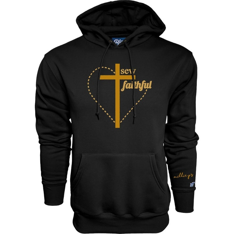 Hoodie Sweatshirt I'm Sew Faithful