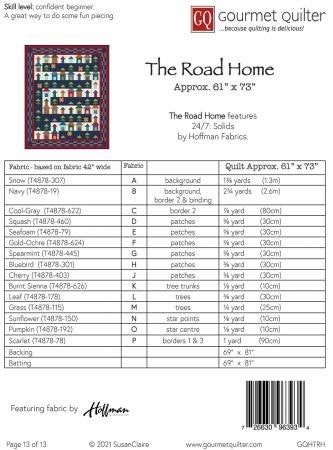 Pattern:  The Road Home