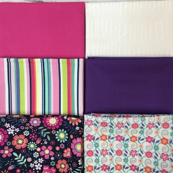 FQ Bundle (6) Pink and Purple Flowers