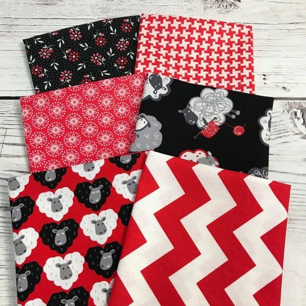 FQ Bundle (6) Knitting Red