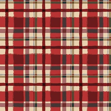 QMN 2021 Flannel Plaid Light Red 1/2 Yard Increment