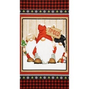 Gnomies Panel (Flanel)  2/3yrd Yard