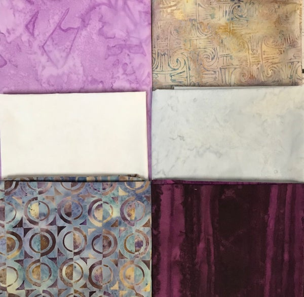 FQ Bundle (6) Brushstrokes in Purple