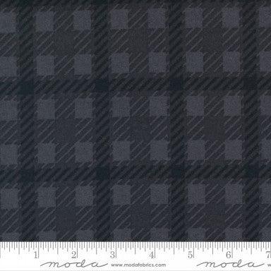 Moda Yuletide Gathering Flannels Scottish Plaid-Coal - 1 yard