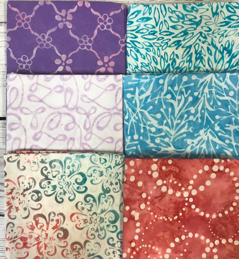 Fat Quarter Bundle (6) Batik Brights