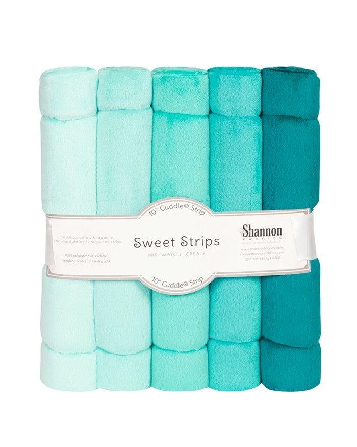 """Cuddle Sweet Strips (5) 10"""" strips x 60"""" - Ocean"""
