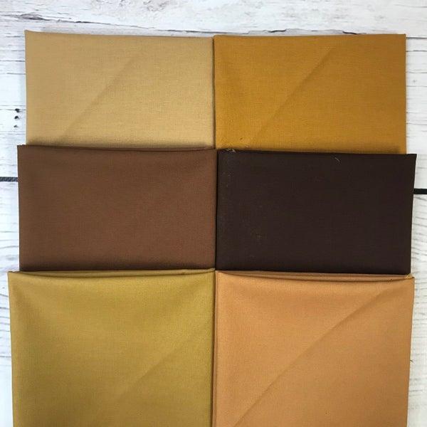 FQ Bundle (6) Shades of Brown