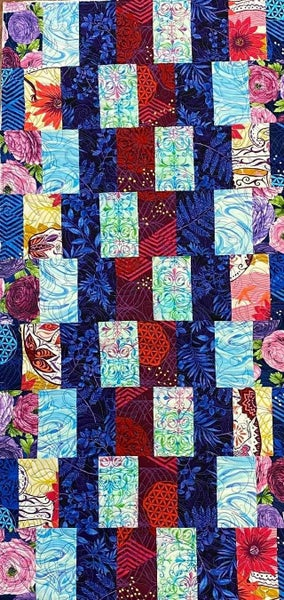 """Kit:  Stripping & Waving Dragonfly  15"""" x 35"""" Includes fabric for top, binding and pattern"""